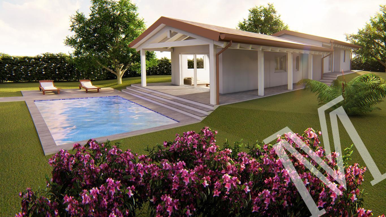 Nuova Villa Unifamiliare in Bioedilizia Classe A 3 in vendita a Soiano del Lago