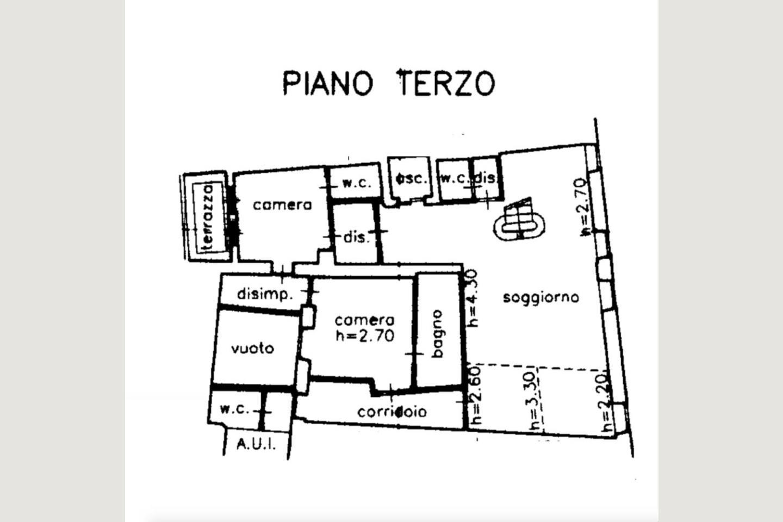Planimetria Attico centro  vendita Desenzano