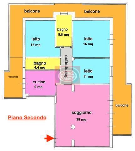 S. Egidio (AC568): ampio quadrilocale in buono stato con cantina e garage