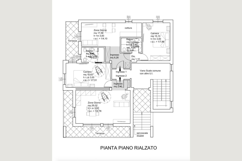 Planimetria P 1 Residence B&B vendita Desenzano