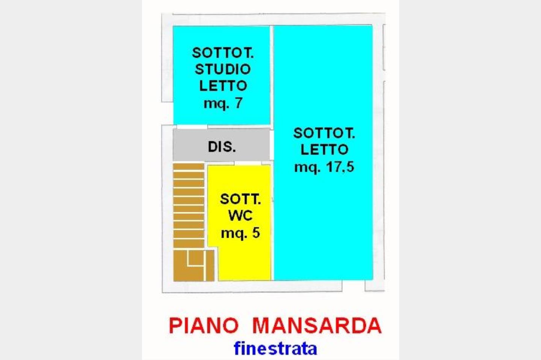 Piano Sottotetto - Mansarda