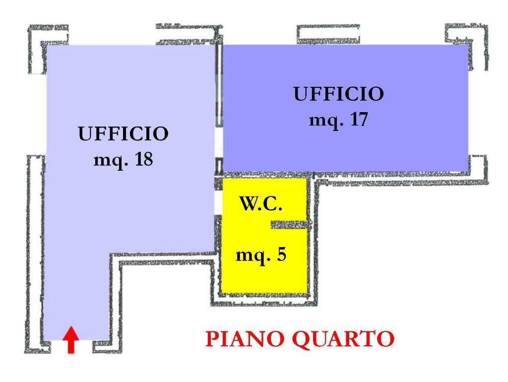 Affitto di un ufficio in buono stato a Cesena, con due vani