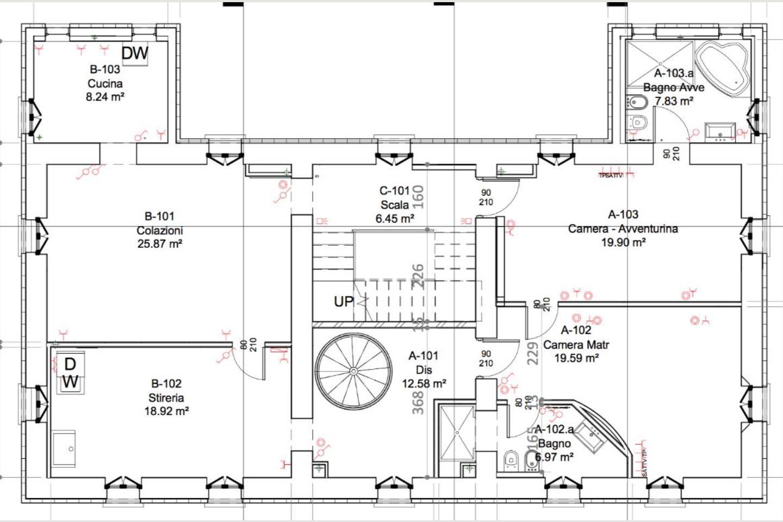 Planimetria p2 Casale Ristrutturato B&B in vendita