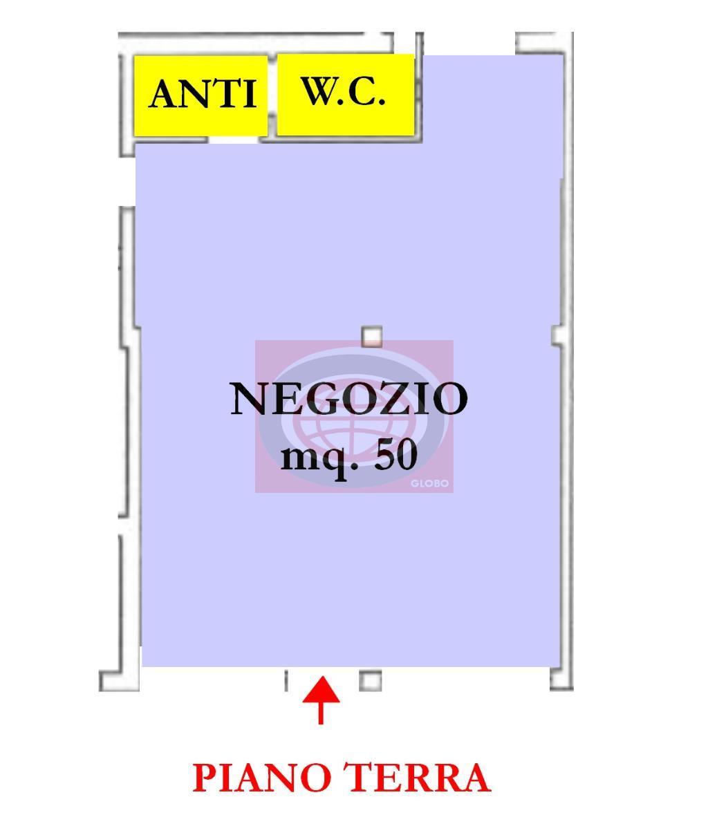 Sant'Egidio(AUN185)Affittasi negozio di 50 mq + 10 mq a servizi in zona di forte passaggio