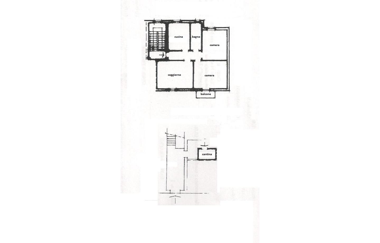 planimetria appartamento e cantina