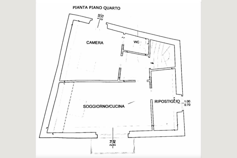Planimetria P4  Attico vista lago Desenzano