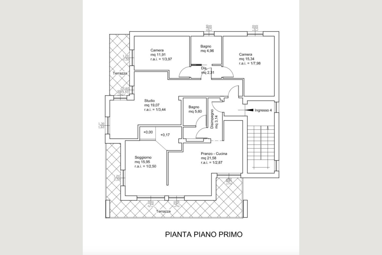 Planimetria P2 Residence B&B vendita Desenzano
