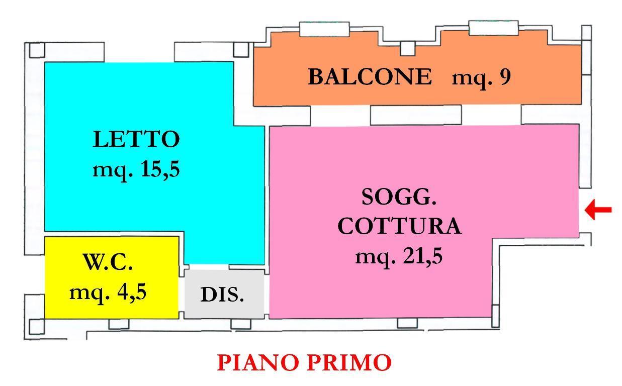 Vendita di un appartamento nuovo a Montiano, con una camera da letto, garage e balcone