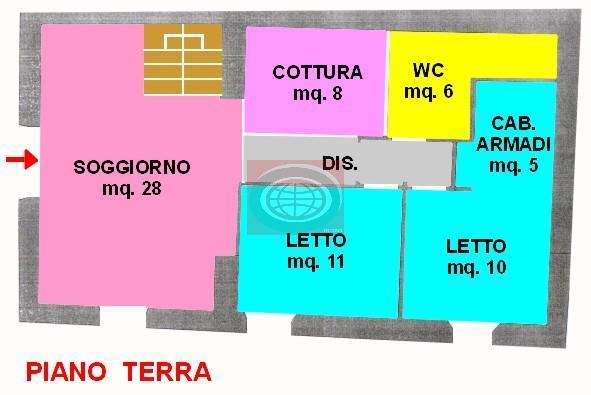 Vendita di un appartamento a Cesena, con due camere da letto, due bagni e ampia zona giorno