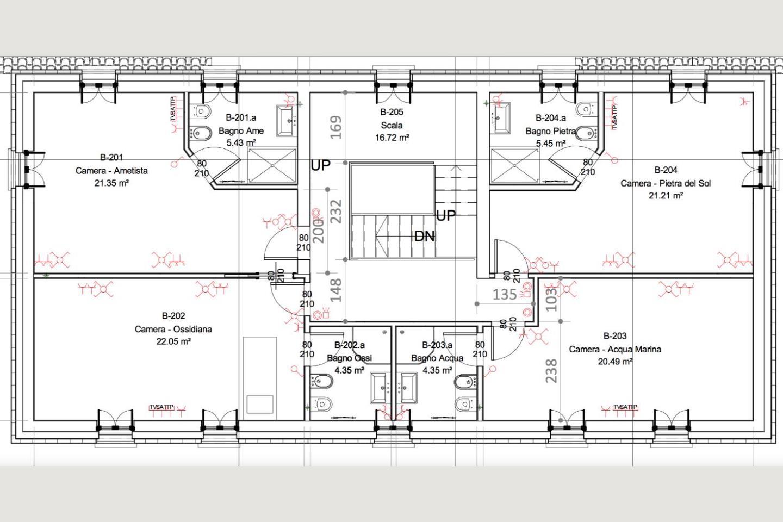 planimetria p1 Casale Ristrutturato B&B in vendita