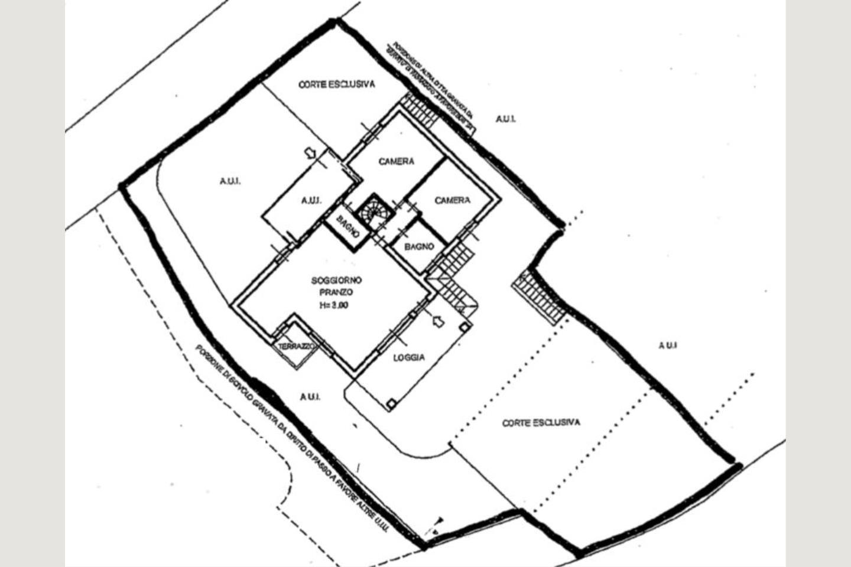 Planimetria p1villa bifamiliare vendita Padenghe
