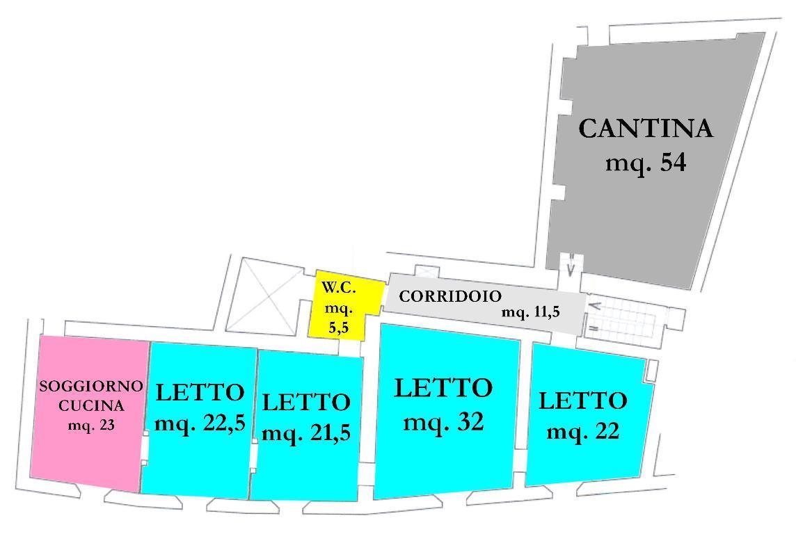 Vendita di un appartamento a Bertinoro, con quattro ampie camere da letto e cantina