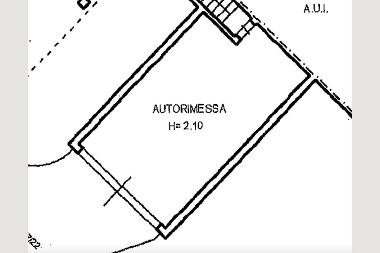 Planimetria box villa bifamiliare vendita Padenghe